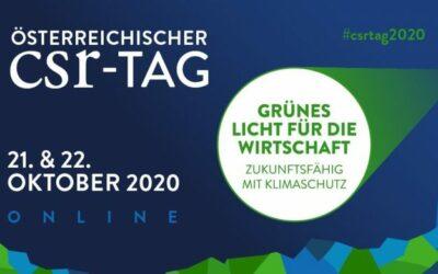 15. Österreichischer CSR-Tag 2020 – Grünes Licht für die Wirtschaft – Zukunftsfähig mit Klimaschutz.