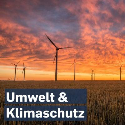 Umwelt Klimaschutz
