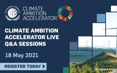Climate Ambition Accelerator Live Q/A – UN Global Compact