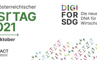 """csrTAG 2021 – """"DIGI FOR SDG – Die neue DNA für die Wirtschaft"""""""